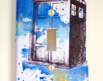 Doctor Who Tardis  Decorative Light Switch Cover