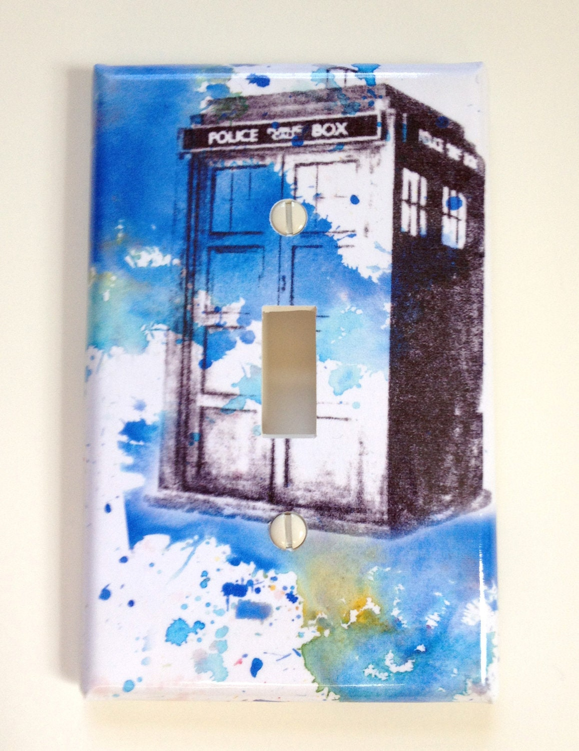 Doctor who tardis decorative light switch cover for Decor light switch