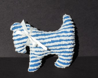 Blue Chenille Dog