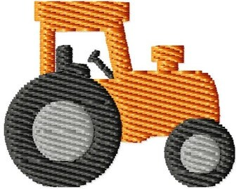 Tractor Machine Embroidery Mini Design