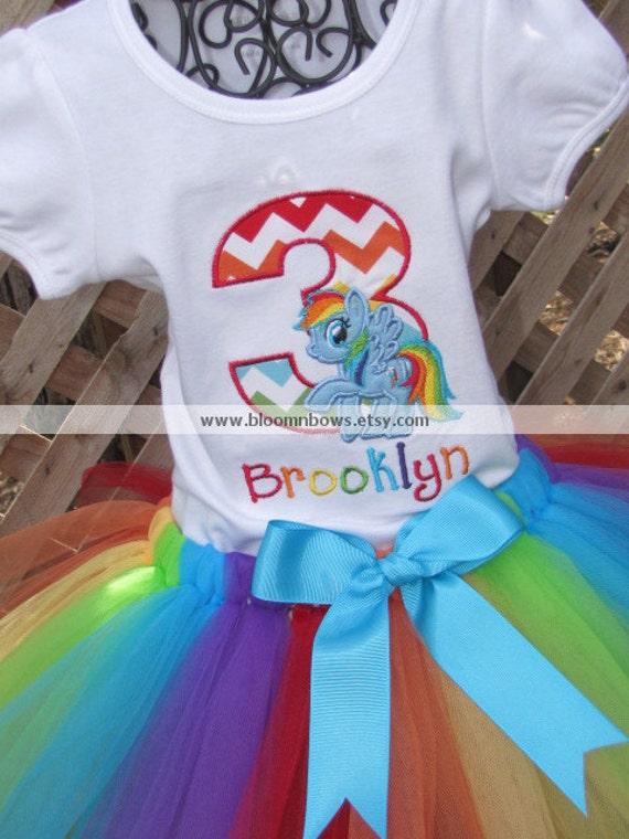 My Little Pony Rainbow Dash Tutu Set. Includes Boutique