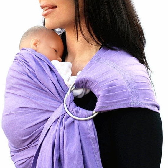 SALE - Baby Carrier Ring Sling LINEN Lavender Superwide Pleated - Standard or Petite length only - Ready to Ship in Standard
