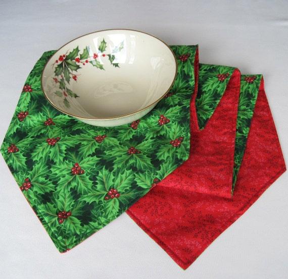 72 green holly christmas table runner reversible red for 120 table runner christmas