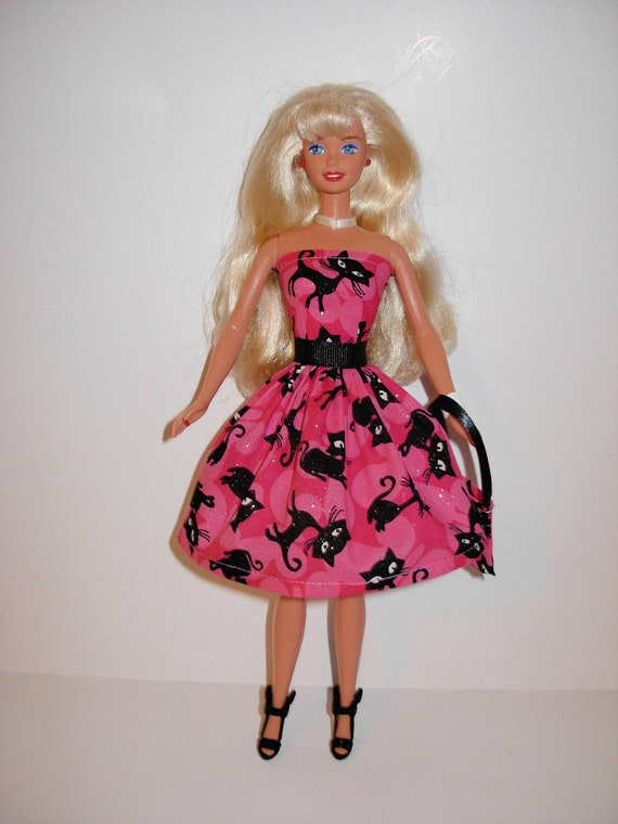 Halloween dress and bag for barbie doll
