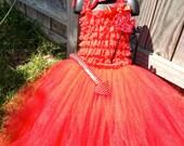 OTT Devil Romper Tutu Costume with Accessories