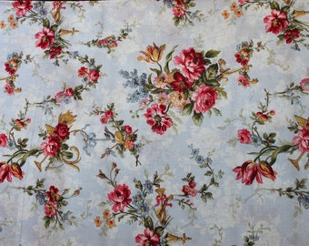 Periwinkle Floral Bouquet  Penelope   LH11037PERI Lakehouse Dry Goods French Fabric