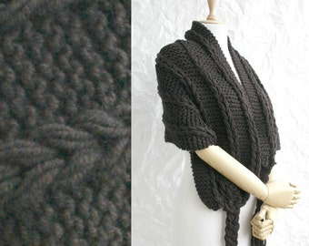Brown  Black Scarf Shawl  Mothers Day gift  UNDER 75USD For Her