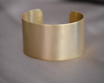 22Kt Gold Plated Satin Finish Cuff