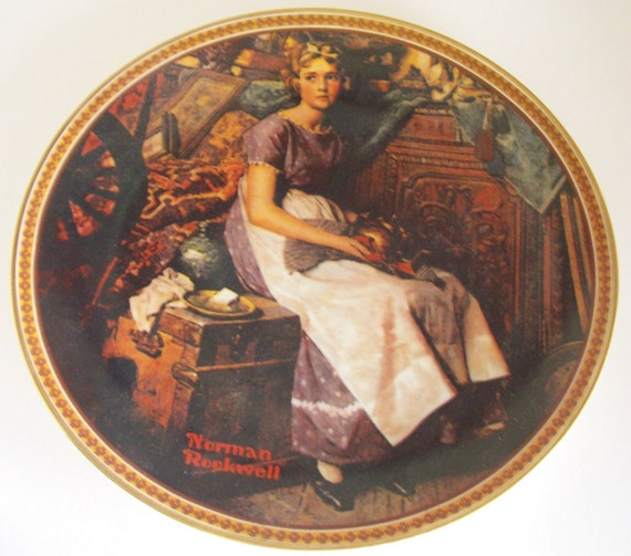 Norman Rockwell Plate Dreaming Attic Porcelain Collectible