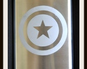 FREE SHIPPING!! Captain America Etched Flask by Jackglass on Etsy