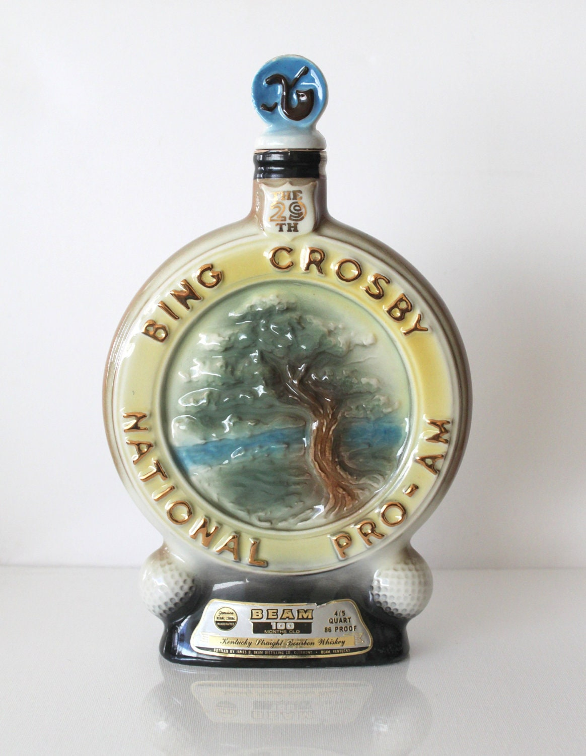 Vintage Bing Crosby Jim Beam Collectible Liquor Bottle By