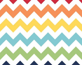 SALE - Riley Blake Medium Chevron in Rainbow