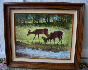 Vintage Oil Painting - Disney Artist - Jack Buckley - Worked on Sleeping Beauty, 101 Dalmations, Etc..