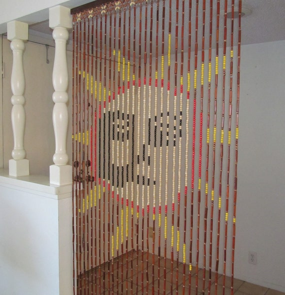 vintage bead curtain sun by daveysvintage on etsy