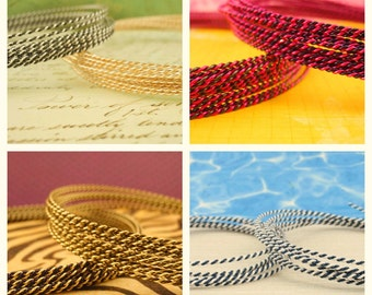 18 gauge Twisted  Wire - Pick TWO Colors - 10 Feet - 3 Meters  100% Guarantee