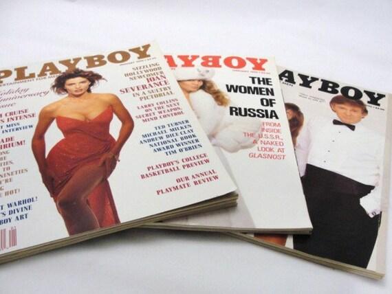 Vintage Playboy magazines 1990 January - December