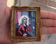 Original Miniature Painting- Small Acrylic Painting for Dollhouse or Collection