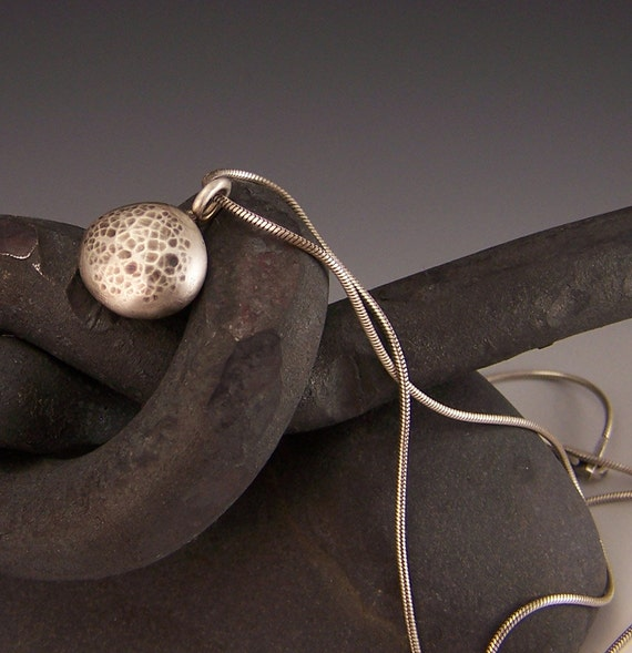 Reserved for Charlene - Simply Silver Earth Egg Necklace