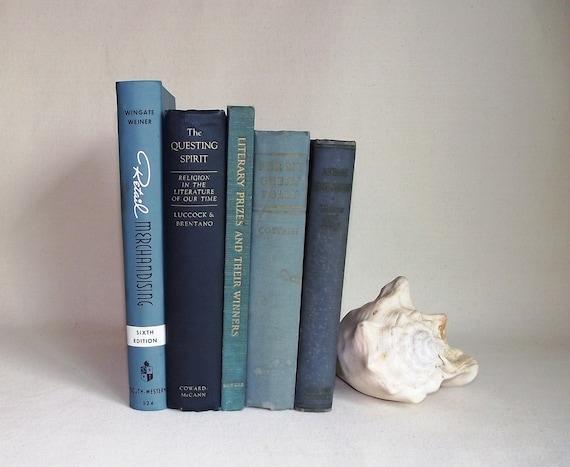 Vintage Book Bundle In Shades of Blue