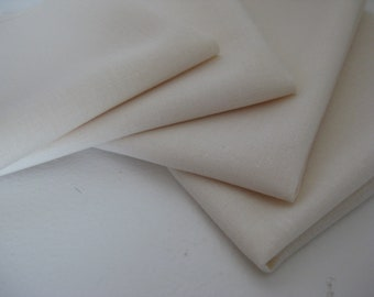 Cloth Napkins - Cream - 100% Cotton