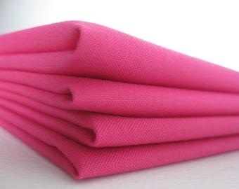 Cloth Napkins - Magenta - 100% Cotton