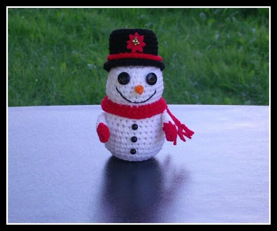 Snowman Party Candy  Holder Crochet Pattern