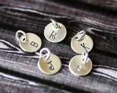 Letter Charm, Sterling Silver Add On Custom Monogram Personalized Gift