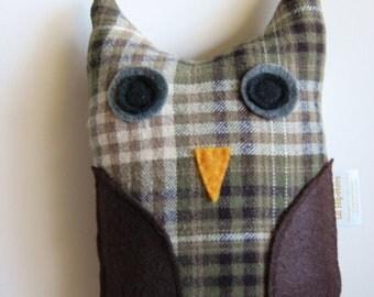 Large Plush OWL toy - ALFRED - children gift woodland - stocking stuffer