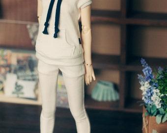 SD13 girl Pocket point white pants- Blue