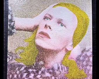 Glittered David Bowie Hunky Dory Album