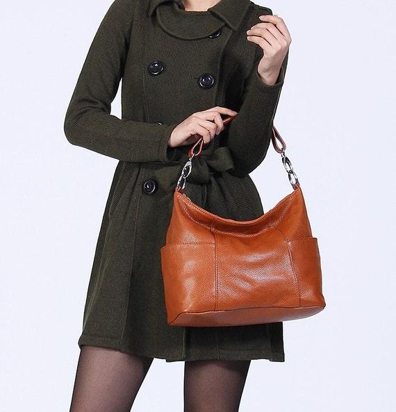 Leather hobo Jolie medium caramel---Adeleshop handmade Leather bag Messenger Diaper bag Shoulder bag Tote Handbag Hip bag Women