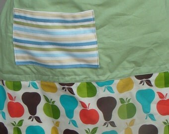 Apples and Pears Half Apron