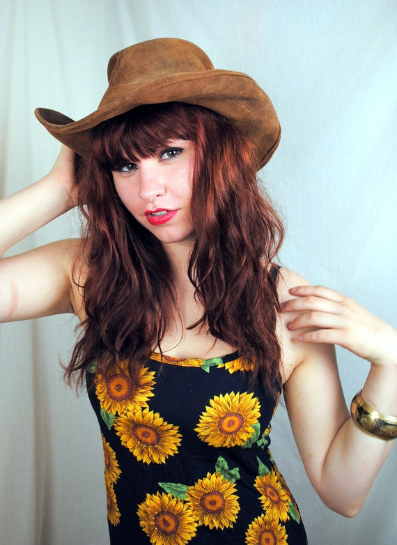 Vintage Minnetonka Boho Leather Hat