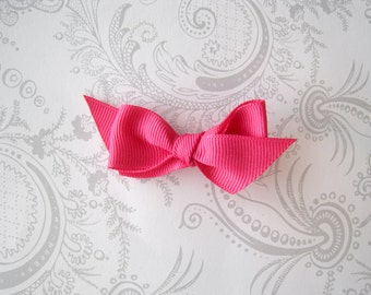 Hair Bow Clip -- Hot Pink -- Stocking Stuffer
