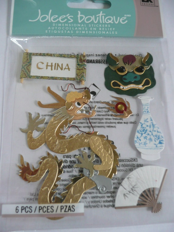 China Dragon Jolee S Boutique Scrapbooking Supplies