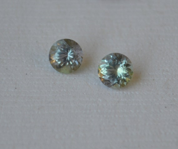 1.05 Carat Unheated Fancy Color Tanzanite Matched Pair