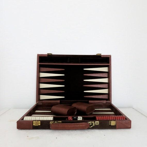 Vintage Backgammon Game - Complete Set with Case