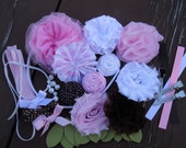 DIY headband kit.......brown, white, pink