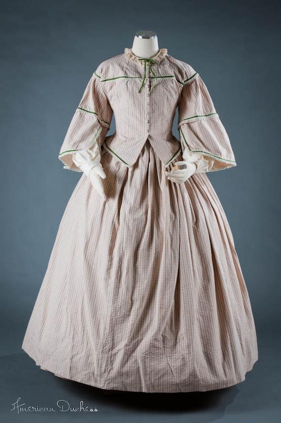women 39 s plus size civil war victorian 1860s day dress