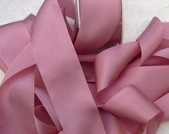 Pure Silk Ribbon  Antique Rose Color 1 1/2 inch  36mm wide 5 yards ON SALE FOR  Limited Time