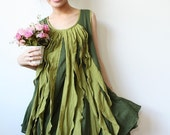 Free Shipping Promotion/Be cheery with Emerald Green Dress, Green dress, Cotton Dress, Sleeveless Dress, Casual Dress