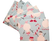 Snowman and Candy Canes Envelope Set