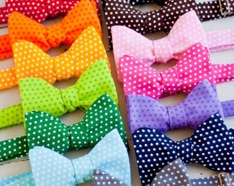 The Beau- men's polka dot collection freestyle self-tie bow ties- choose from 13 shades