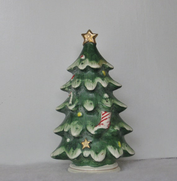 Vintage Lefton Christmas Tree Ceramic Hors D Oeuvres