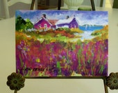 Summer on Natucket, 5x7 original painting, varnished and ready to frame....Small Treasures Collection