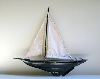 SALE vintage sailboat pond yacht