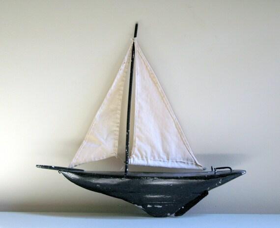 SALE vintage sailboat pond yacht