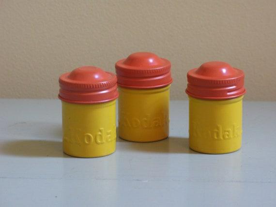 vintage Kodak film cannisters