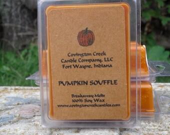 Pumpkin Souffle Pure Soy  Breakaway Melt, Fall Scent, Food Scent, Pumpkin Scent, Kitchen Scent. Stocking Stuffer, Teacher Gift, Gift Basket