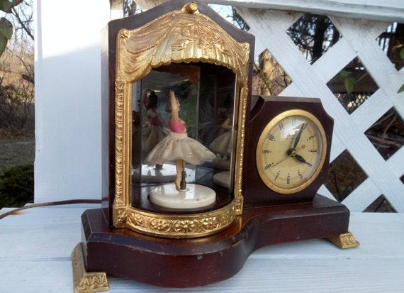 Vintage United Clock Corporation Ballerina Light Musical Clock